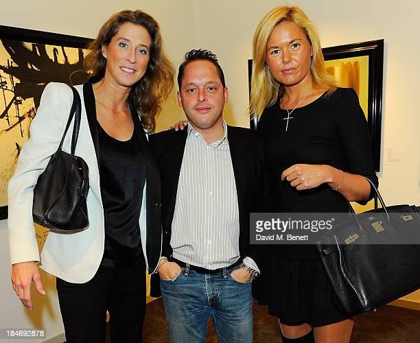 Marella Rossi Sebastien CambrayPellegrin and Ariane De Senneville attend the VIP Preview during the PAD London Art Design Fair at Berkeley Square...