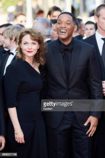 Maren Ade and Will Smith attend the Closing Ceremony of the 70th annual Cannes Film Festival at Palais des Festivals on May 28 2017 in Cannes France