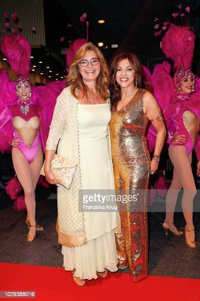 Maren Gilzer and Alice Brauner during the 100th birthday celebration gala for Artur Brauner at Zoo Palast on September 8 2018 in Berlin Germany Artur...
