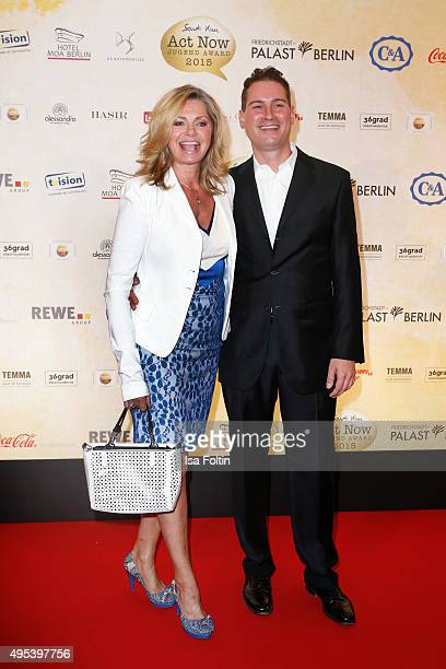 Maren Gilzer and Daniel Raue attend the 1st Act Now Jugend Award at Friedrichstadt-Palast on November 2, 2015 in Berlin, Germany.