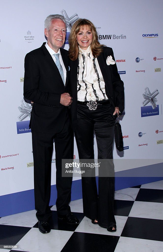 Maren Gilzer and Egon F. Freiheit attend the 'Felix Burda Award' at the Adlon hotel on April 18, 2010 in Berlin, Germany.