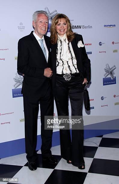 Maren Gilzer and Egon F Freiheit attend the 'Felix Burda Award' at the Adlon hotel on April 18 2010 in Berlin Germany