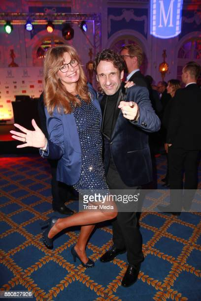 Maren Gilzer and FalkWilly Wild attend the Movie Meets Media event 2017 at Hotel Atlantic Kempinski on November 27 2017 in Hamburg Germany