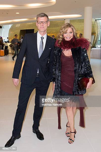 Maren Gilzer and guest attend the Victress Awards Gala 2015 at Andel's Hotel on April 13, 2015 in Berlin, Germany.