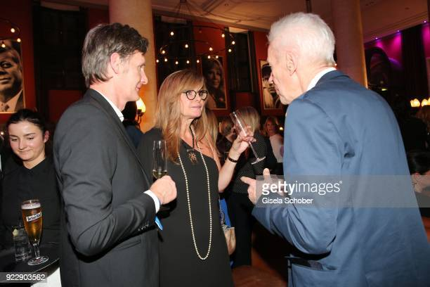 Maren Gilzer and her boyfriend Harry Kuhlmann and her former husband Egon F Freiheit during the BUNTE BMW Festival Night 2018 on the occasion of the...
