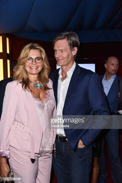 Maren Gilzer and her boyfriend Harry Kuhlmann attend the 8th Diabetes Charity Gala at Tipi am Kanzleramt on October 18, 2018 in Berlin, Germany.
