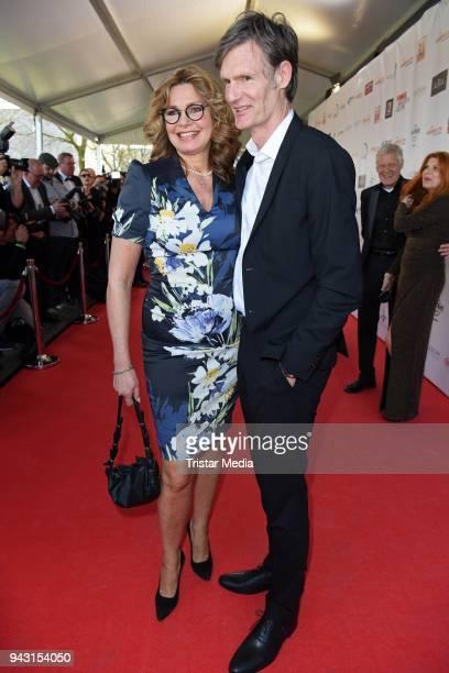 Maren Gilzer and her boyfriend Harry Kuhlmann attend the 'Goldene Sonne 2018' Award by SonnenklarTV on April 7 2018 in Kalkar Germany
