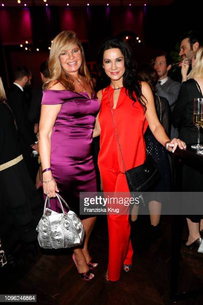 Maren Gilzer and Mariella Ahrens during the BUNTE BMW Festival Night at Restaurant Gendarmerie on February 8 2019 in Berlin Germany
