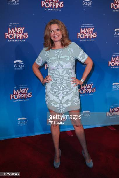 Maren Gilzer attend the red carpet at the premiere of the Mary Poppins musical at Stage Apollo Theater on October 23 2016 in Stuttgart Germany