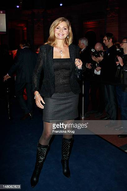 Maren Gilzer attends 'ARD Degeto Blue Hour' Party in the Museum of communication in Berlin on February 11 2012 in Berlin Germany