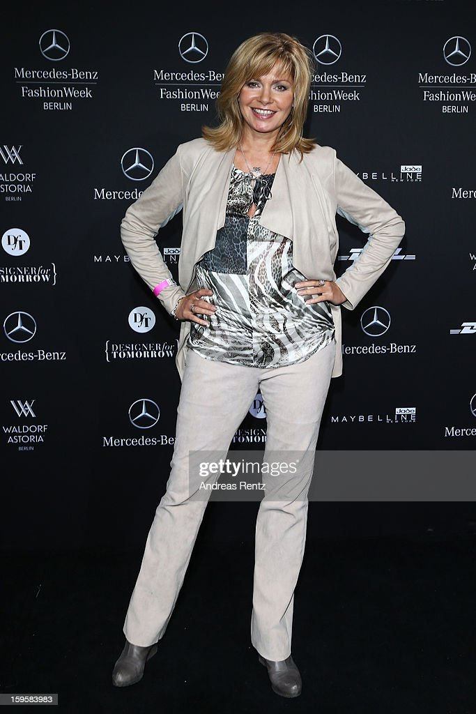 Maren Gilzer attends the Agne Kuzmickaite, Igrida Zabere, Kaetlin Kaljuvee Autumn/Winter 2013/14 fashion show during Mercedes-Benz Fashion Week Berlin at Brandenburg Gate on January 16, 2013 in Berlin, Germany.