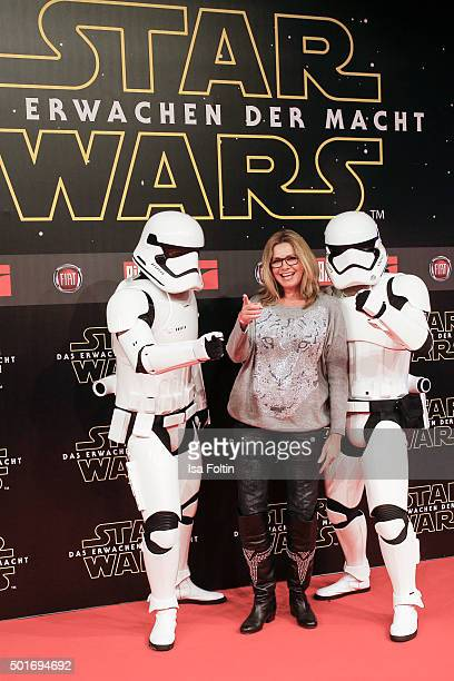 Maren Gilzer attends the German premiere for the film 'Star Wars: The Force Awakens' at Zoo Palast on December 16, 2015 in Berlin, Germany.