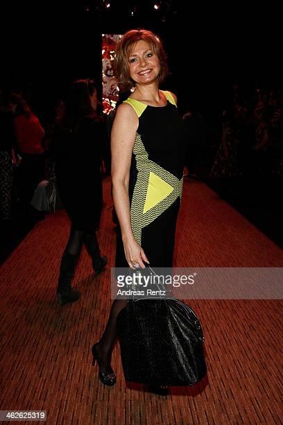 Maren Gilzer attends the Lena Hoschek show during Mercedes-Benz Fashion Week Autumn/Winter 2014/15 at Brandenburg Gate on January 14, 2014 in Berlin,...