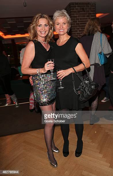Maren Gilzer Carola Ferstl during the birthday celebration of Maren Gilzer's 55th birthday on February 4 2015 in Berlin Germany Welcome Home Show at...