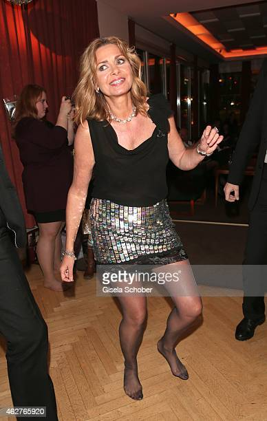 Maren Gilzer dancing during the birthday celebration of Maren Gilzer's 55th birthday on February 4 2015 in Berlin Germany Welcome Home Show at 15th...