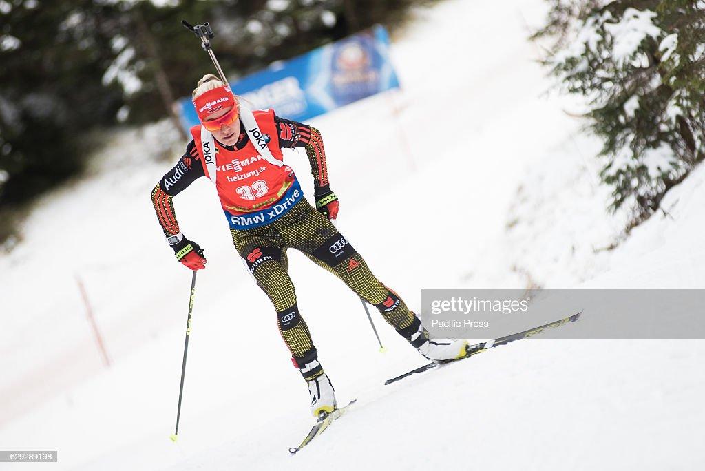 Maren Hammerschmidt  of Germany on the course during women 7... : Nachrichtenfoto