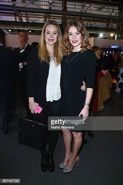Maren Klever and Amelie Klever attend the Breuninger show during Platform Fashion January 2016 at Areal Boehler on January 29 2016 in Duesseldorf...