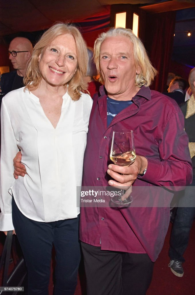 Maren Kroymann and Georgette Dee attend the premiere of 'Dee Frost Welt - Lieder' at Tipi am Kanzleramt on June 13, 2018 in Berlin, Germany.