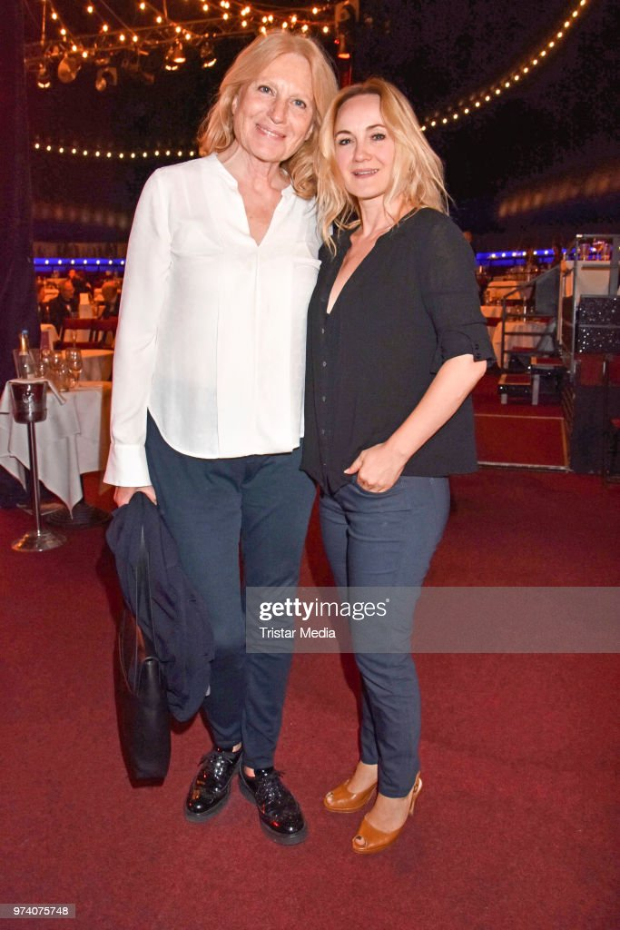Maren Kroymann and Katharine Mehrling attend the premiere of 'Dee Frost Welt - Lieder' at Tipi am Kanzleramt on June 13, 2018 in Berlin, Germany.