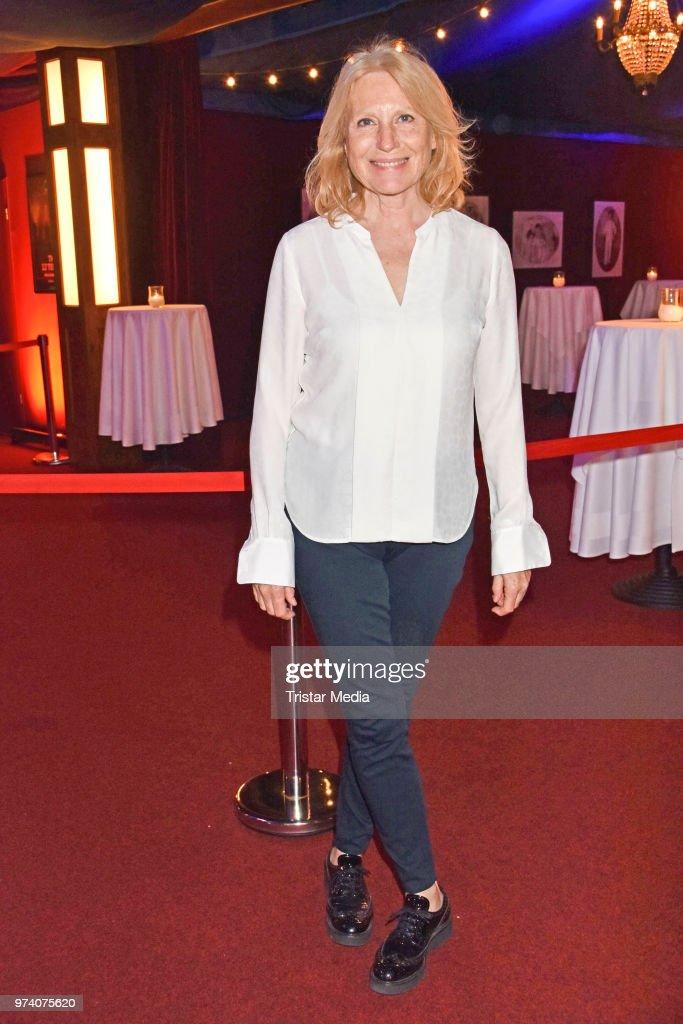 Maren Kroymann attends the premiere of 'Dee Frost Welt - Lieder' at Tipi am Kanzleramt on June 13, 2018 in Berlin, Germany.