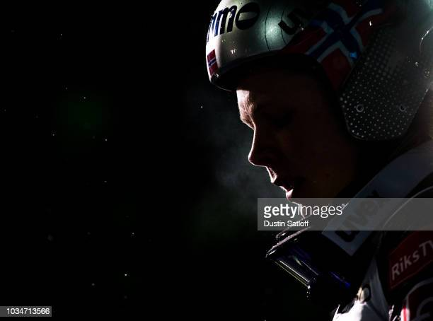Maren Lundby of Norway competes in the Women's Ski Jumping HS100 during the FIS Nordic World Ski Championships on February 24 2017 in Lahti Finland