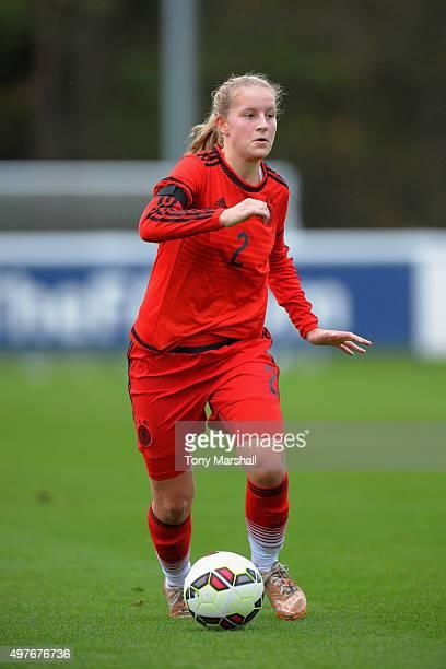 Maren Marie Tellenbroker of Germany during Women's U16s International Friendly match between England U16s Women and Germany U16s Women at St Georges...