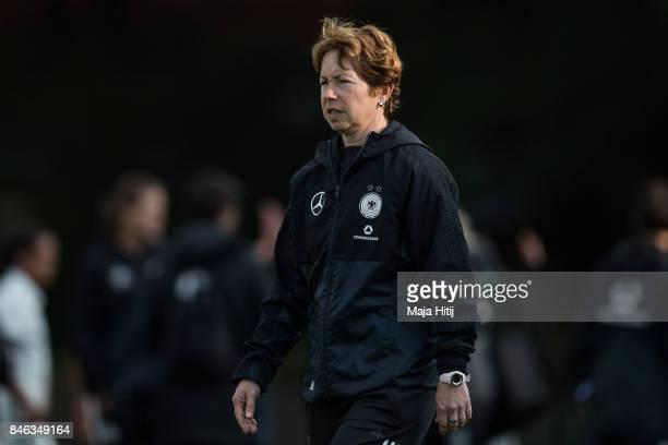 Maren Meinert head coach of Germany after the U19 Women's Germany and U19 Women's Kosovo UEFA Under19 Women's Euro Qualifier match on September 12...