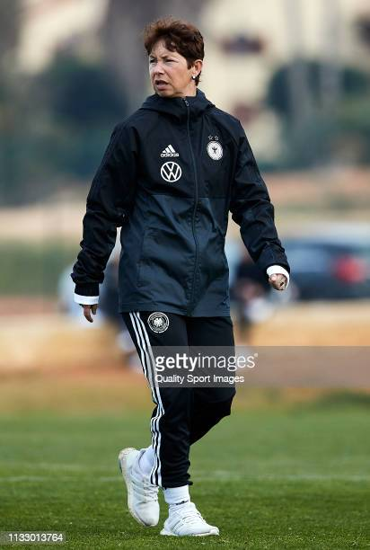 Maren Meinert head coach of Germany before the 14 Nations Tournament match between U19 Women's Germany and U19 Women's USA at on March 01 2019 in La...