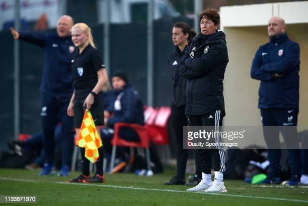 Maren Meinert of Germany looks on during the 14 Nations Tournament match between U19 Women's Germany and U19 Women's Norway on March 05 2019 in La...