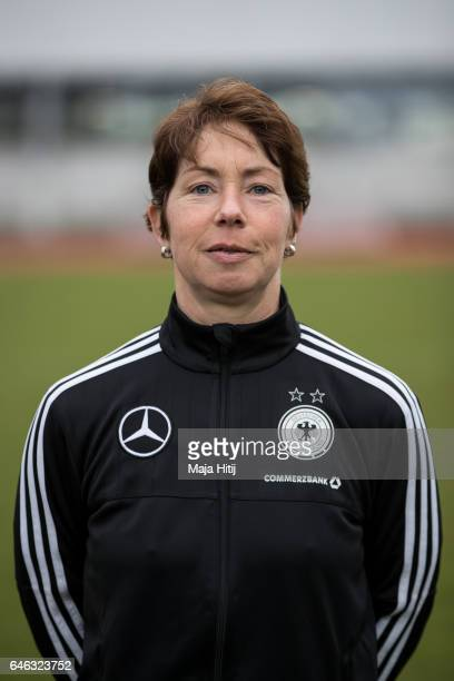 Maren Meinert poses during the Germany Women's U19 team presentation on February 28 2017 in Duesseldorf Germany