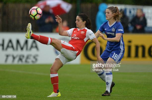 Maren Mjelde of Chelsea during a WSL 1 match between Chelsea Ladies FC and Arsenal Ladies FC on May 17 2017 in Staines England