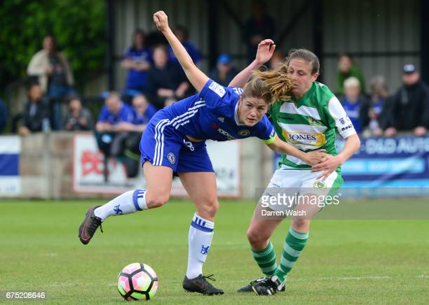 Maren Mjelde of Chelsea during the FA WSL 1 match between Chelsea Ladies and Yeovil Town Ladies at Wheatsheaf Park on April 30 2017 in Staines England