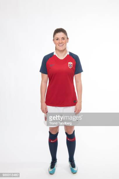 Maren Mjelde of Norway of Norway during the launch of national kit Woman`s National Team NFF on February 27 2018 in Portimao Portugal