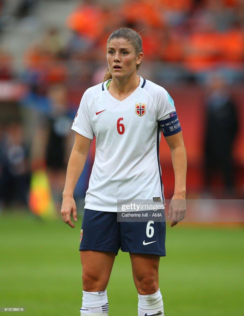 Maren Mjelde of Norway Women during the UEFA Women's Euro 2017 Group A match between Netherlands and Norway at Stadion Galgenwaard on July 16, 2017 in Utrecht, Netherlands.