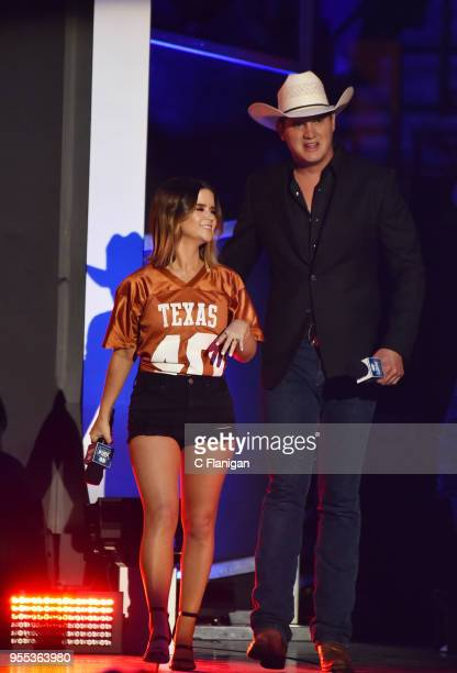 Maren Morris and Jon Pardi speaks onstage during the 2018 iHeartCountry Festival by ATT at The Frank Erwin Center on May 5 2018 in Austin Texas