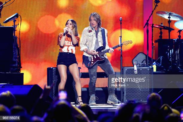 Maren Morris and Keith Urban perform onstage during the 2018 iHeartCountry Festival By ATT at The Frank Erwin Center on May 5 2018 in Austin Texas