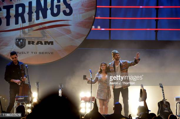 "Maren Morris and Ryan Hurd appear on stage during ""Stars and Strings Presented by RAM Trucks Built to Serve"" a RADIOCOM Event at the Fox Theatre on..."