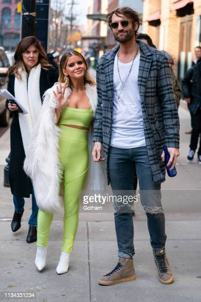 Maren Morris and Ryan Hurd are seen in Tribeca on March 07 2019 in New York City