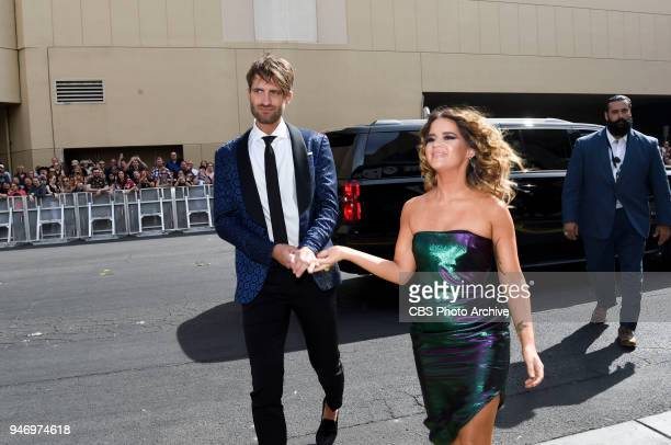 Maren Morris and Ryan Hurd arrive on the red carpet at the 53RD ACADEMY OF COUNTRY MUSIC AWARDS live from the MGM Grand Garden Arena in Las Vegas...
