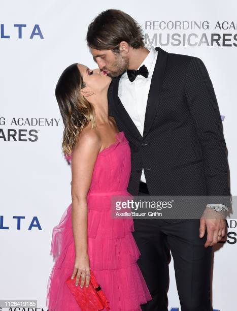 Maren Morris and Ryan Hurd attend MusiCares Person of the Year honoring Dolly Parton at Los Angeles Convention Center on February 08 2019 in Los...