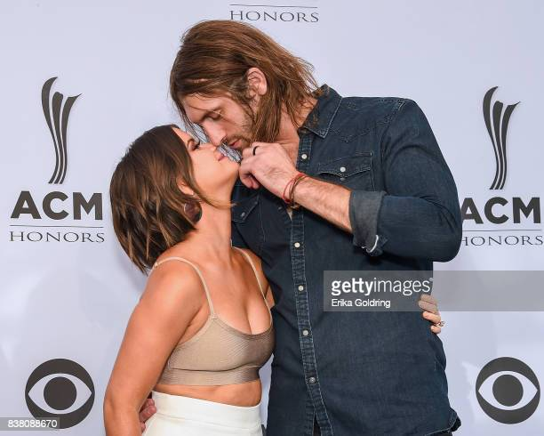 Maren Morris and Ryan Hurd attend the 11th Annual ACM Honors at the Ryman Auditorium on August 23 2017 in Nashville Tennessee