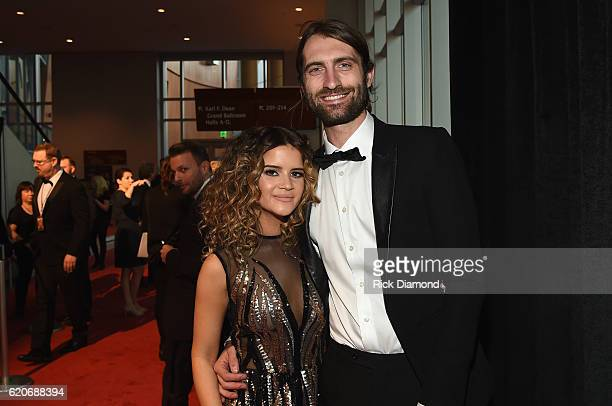 Maren Morris and Ryan Hurd attend the 50th annual CMA Awards at the Bridgestone Arena on November 2 2016 in Nashville Tennessee