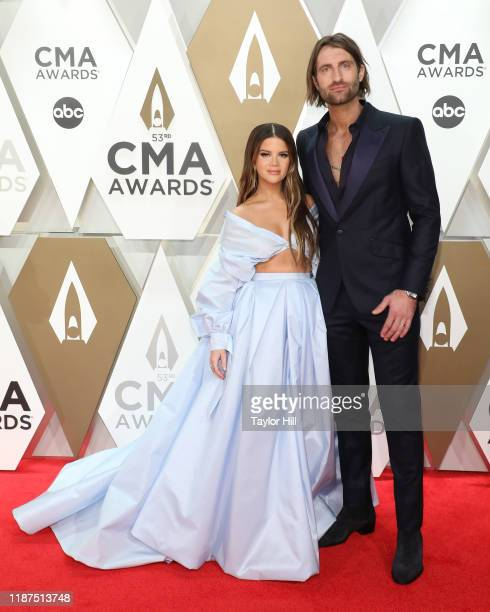 Maren Morris and Ryan Hurd attend the 53nd annual CMA Awards at Bridgestone Arena on November 13 2019 in Nashville Tennessee