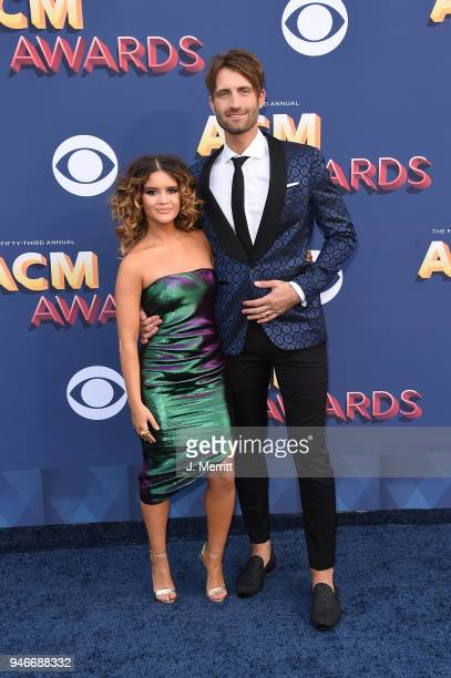 Maren Morris and Ryan Hurd attend the 53rd Academy of Country Music Awards at the MGM Grand Garden Arena on April 15 2018 in Las Vegas Nevada
