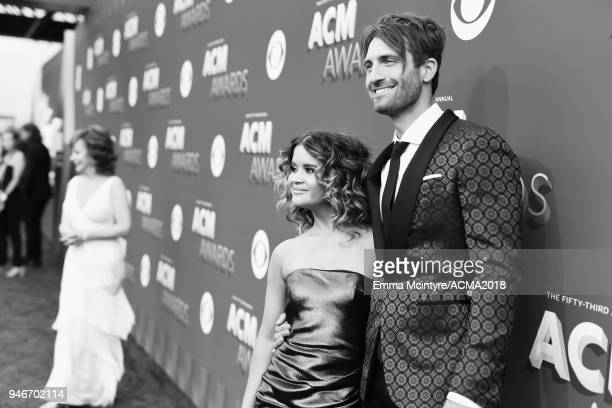 Maren Morris and Ryan Hurd attend the 53rd Academy of Country Music Awards at MGM Grand Garden Arena on April 15 2018 in Las Vegas Nevada