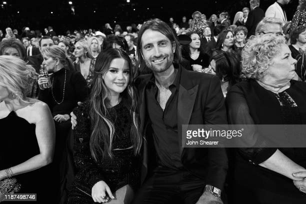 Maren Morris and Ryan Hurd attend the 53rd annual CMA Awards at the Bridgestone Arena on November 13 2019 in Nashville Tennessee
