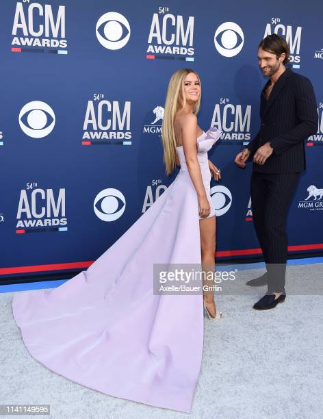 Maren Morris and Ryan Hurd attend the 54th Academy of Country Music Awards at MGM Grand Garden Arena on April 07, 2019 in Las Vegas, Nevada.