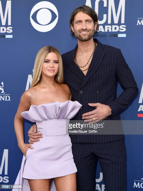 Maren Morris and Ryan Hurd attend the 54th Academy of Country Music Awards at MGM Grand Garden Arena on April 07 2019 in Las Vegas Nevada
