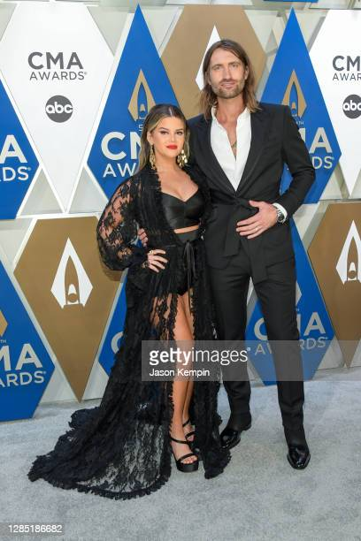 Maren Morris and Ryan Hurd attend the 54th annual CMA Awards at the Music City Center on November 11, 2020 in Nashville, Tennessee.