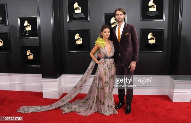 Maren Morris and Ryan Hurd attend the 61st Annual GRAMMY Awards at Staples Center on February 10 2019 in Los Angeles California